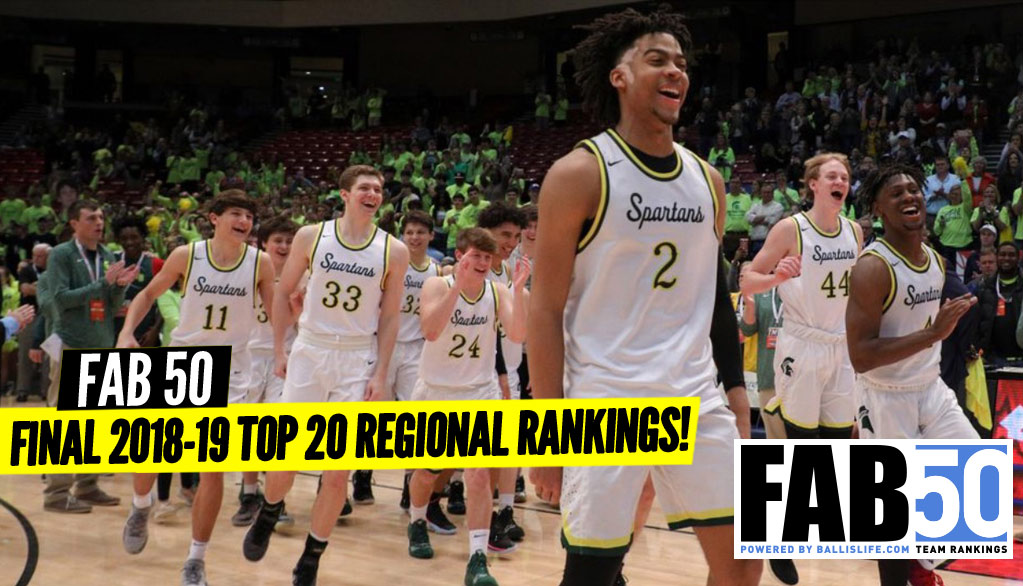 FINAL 2018-19 Top 20 Regional Rankings!
