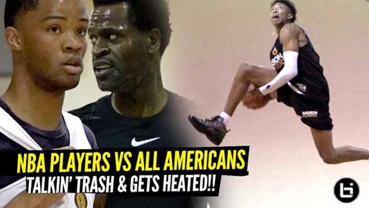 High School All-Americans vs NBA Players Got HEATED at...