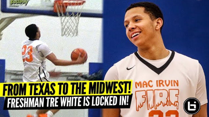 Bouncy Freshman Dunks Everything! Tre White Overpowers Opponents in Mac Irvin Fire Debut!
