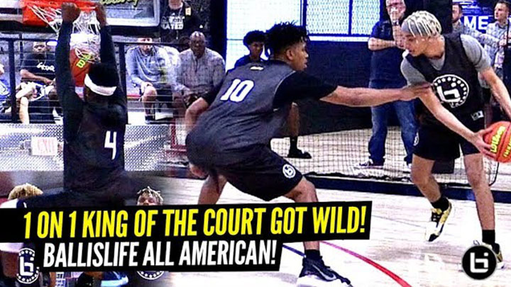 Ballislife 1 on 1 King of the Court Got Crazy!! Hoodie Rio, Anthony Edwards, Boogie Ellis and More Show Out!!