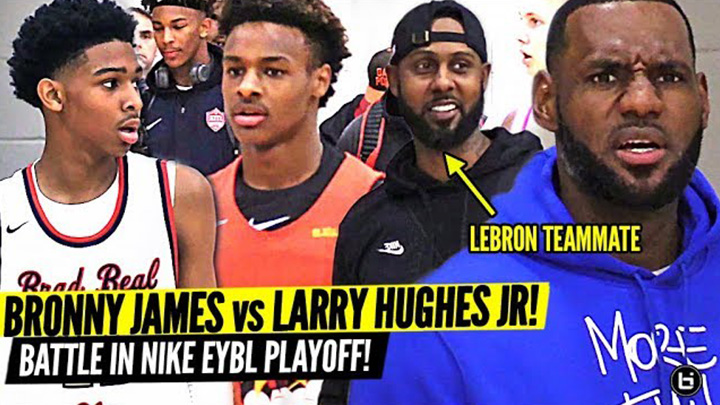Bronny James vs Larry Hughes Jr. Was INTENSE! Sons of...