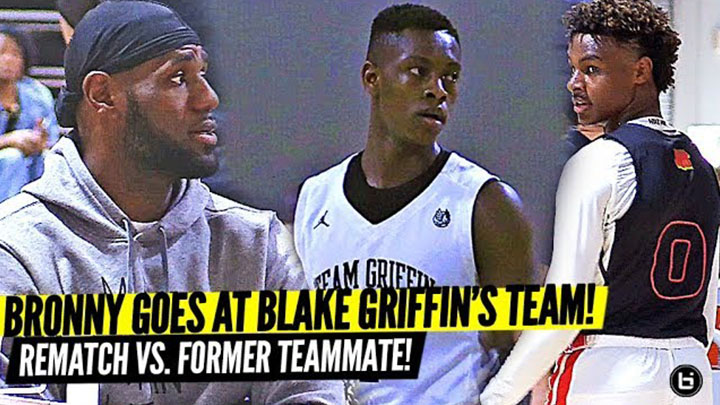 Lebron Watches Bronny GO AT Blake Griffin's Team and Former Blue Chips Teammate!
