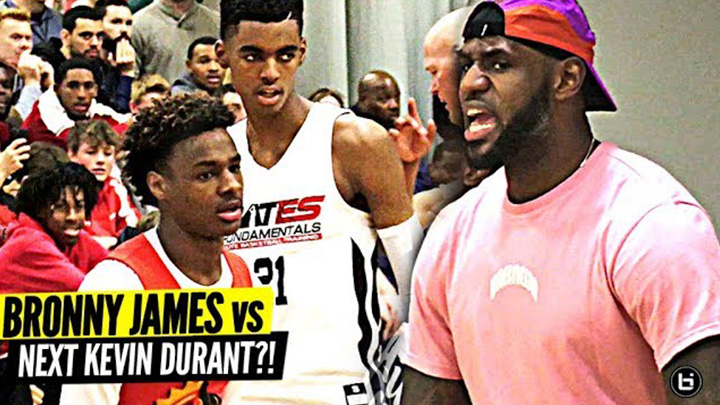 Bronny James vs Emoni Bates Got Lebron HYPED!
