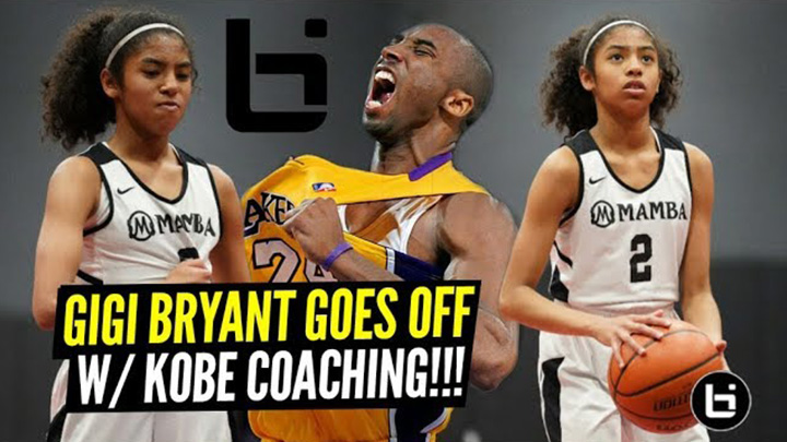Kobe's Daughter Gigi GOES OFF Against Older Players with Kobe Coaching!