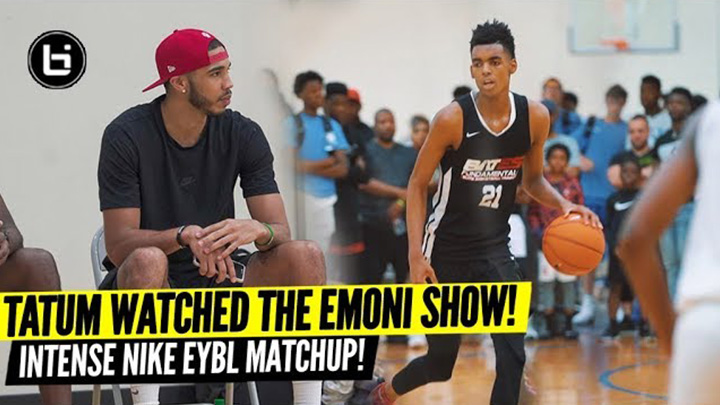 Jayson Tatum Watched The Emoni Bates Show! Game Went Down To The Buzzer!