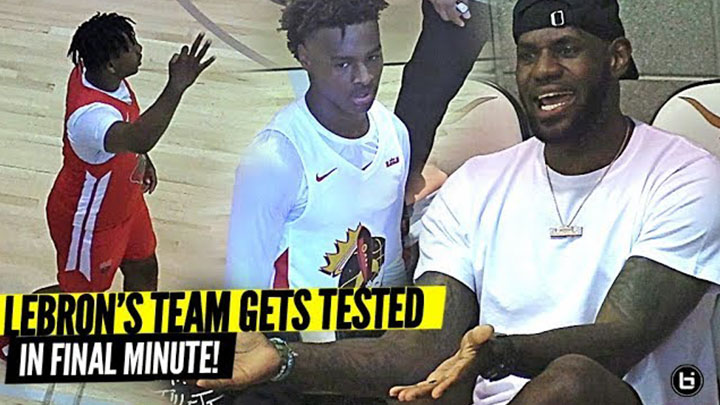 Lebron COACHES Bronny Down the Stretch to Seal the Deal!