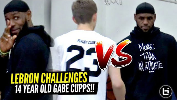 LeBron James CHALLENGED By 14 Y/O Gabe Cupps In The Middle of Bronny's Game!