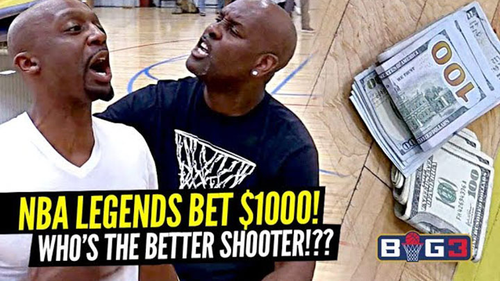 Gary Payton Bets $1000 & Gets HEATED vs Jason Terry at Big 3!!