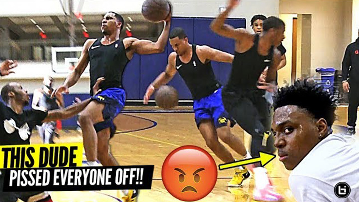 Pro Basketball Player DESTROYS Private Pick Up Game!