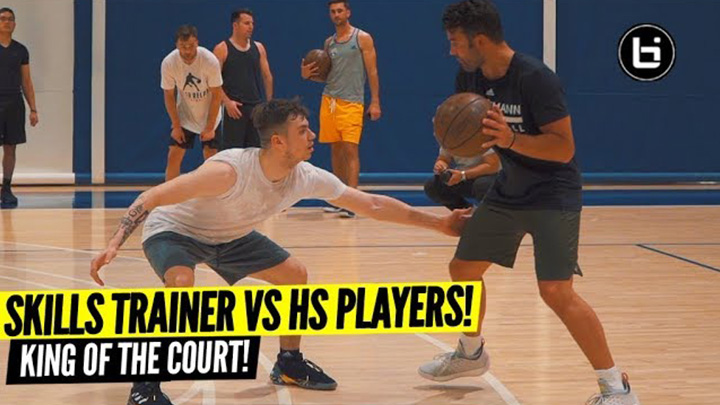 Skills Trainers Take on High School Players 2v2 King of the...
