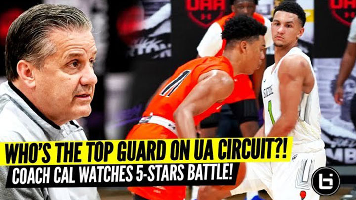 Coach Cal Watches Jaden Springer vs Jalen Suggs in 5 Star Battle!
