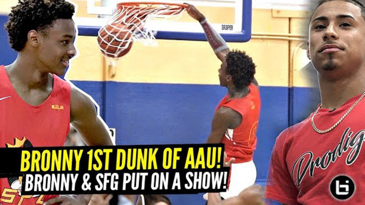 Bronny James Hit His FIRST IN-GAME DUNK of AAU Season!!