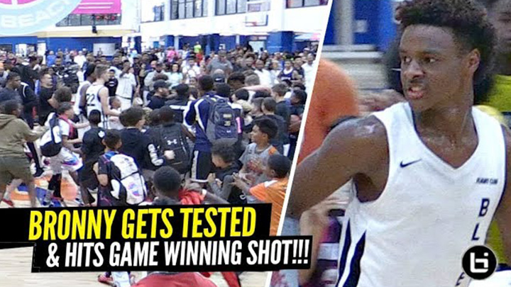 Bronny James HITS GAME WINNING SHOT & Makes Crowd RUSH THE FLOOR!!