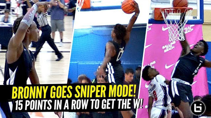 Bronny James Turns Into a SNIPER & Scores 15 IN A ROW...
