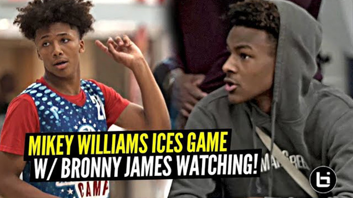 Bronny James Watches Mikey Williams HIT GAME WINNER & GO OFF at Pangos All American Camp!!