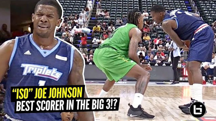 """ISO"" Joe Johnson Would Still Average 20 PPG In The NBA!! Caught FIRE In Big 3 Debut!"