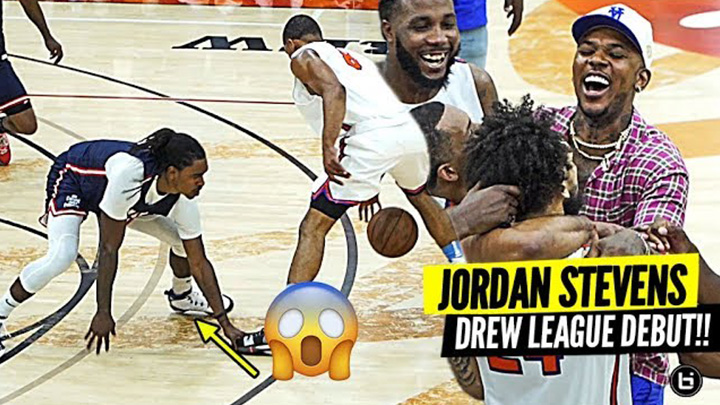 D2 Basketball Player CRAZY OT Drew League Debut!! Jordan Stevens Got Nick Young Going WILD!!