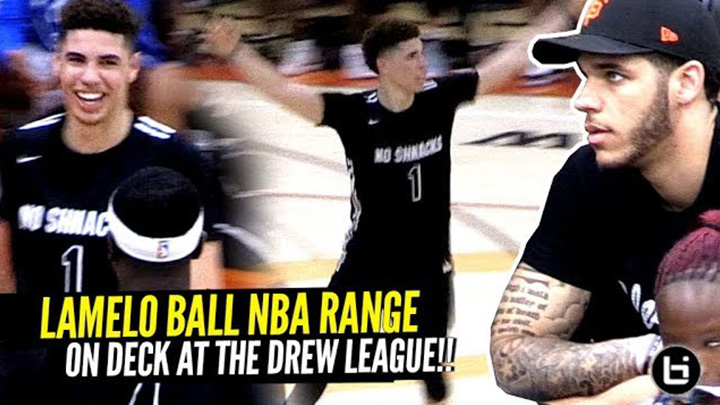LaMelo Ball Shows OFF NBA RANGE At The Drew League w/Lonzo Watching!! Melo Had The Crowd Wildin'