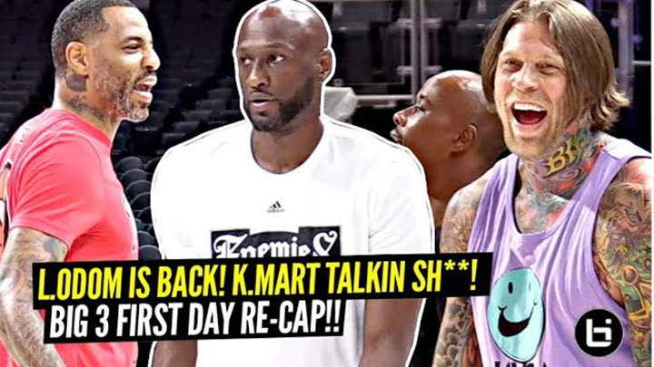 Lamar Odom IS BACK!! Retired NBA Pros Go 1 v 1 at Big 3!!
