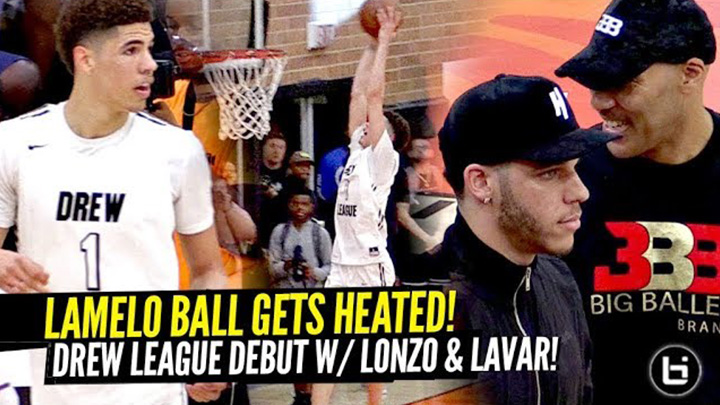 LaMelo Ball Gets Heated & Goes Off in Drew League Debut!!