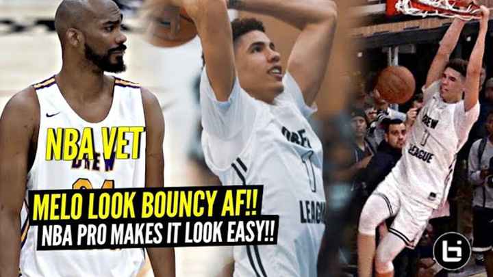 LaMelo Ball & Big O Looking BOUNCIER Than EVER! Corey Brewer Makes It Look EASY at The Drew!