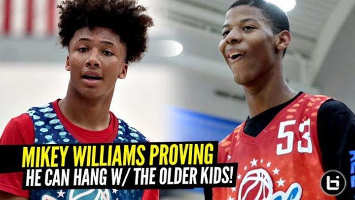 Mikey Williams PROVING He Can HANG vs OLDER Players at Pangos AA Camp!!