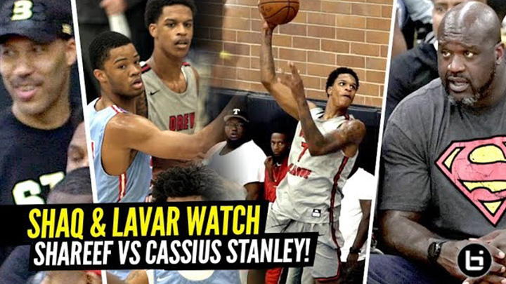 Shaq & Lavar Watch Shareef O'Neal vs Cassius Stanley GO AT IT at Drew League!