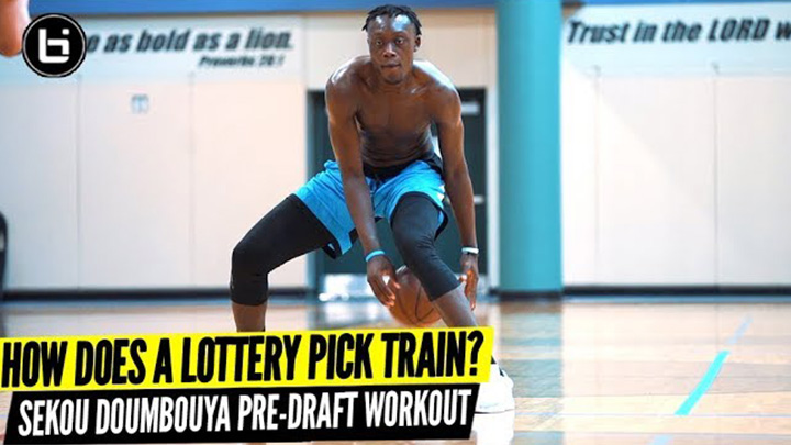 How An NBA Draft Lottery Pick Trains! Sekou Doumbouya Pre Draft Workout