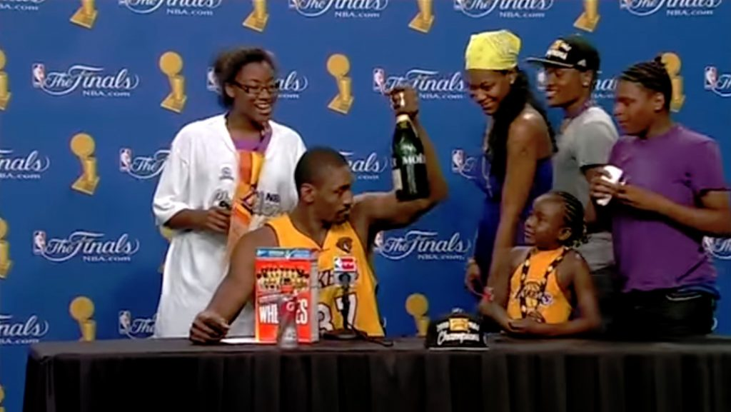 Metta World Peace's Hilarious 2010 NBA Championship...