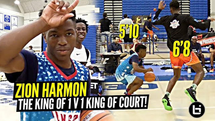 Zion Harmon Is The KING of 1 v 1 King Of The Court!!!