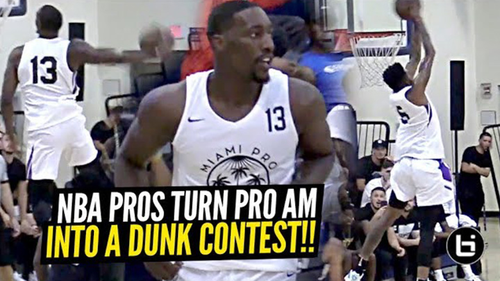 Derrick Jones Jr & Bam Adebayo Put Down INSANE Dunks at Miami Pro League!!