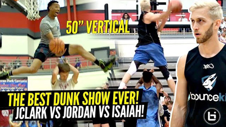 Craziest Dunk Off Ever?!? Absolutely UNREAL Dunks by JClark vs Jordan Kilganon vs Isaiah Rivera!!