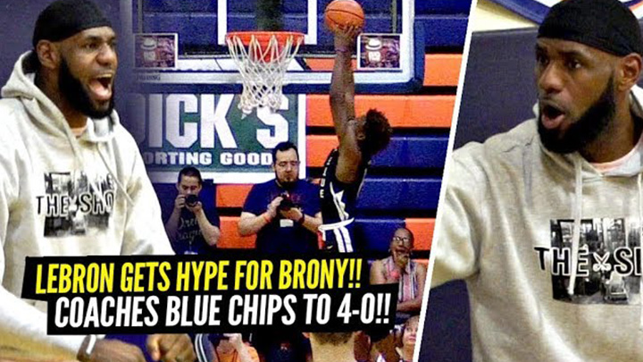 LeBron Got Hyped Off This Bronny Dunk!! Coached Bronny & Blue Chips to Undefeated Record!!