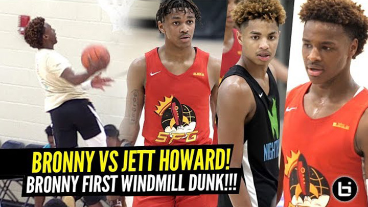 Bronny James 1ST WINDMILL DUNK! Bronny vs Juwan...
