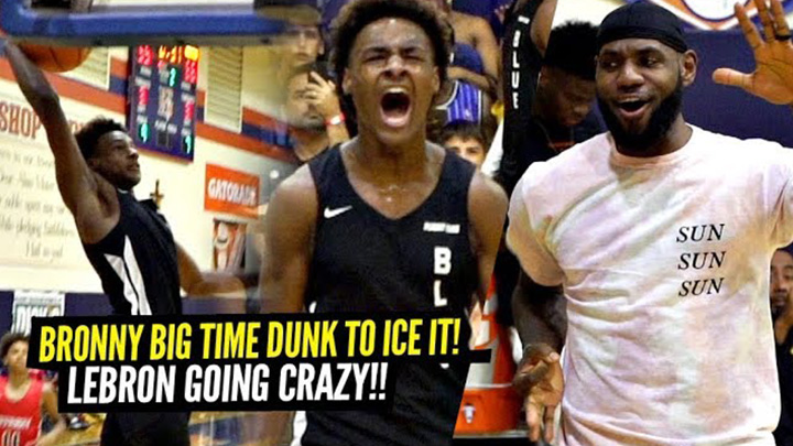Bronny Iced the Game With a BIG Dunk & LeBron Went Wild for Gabe Cupps in This Semi-Final Matchup!