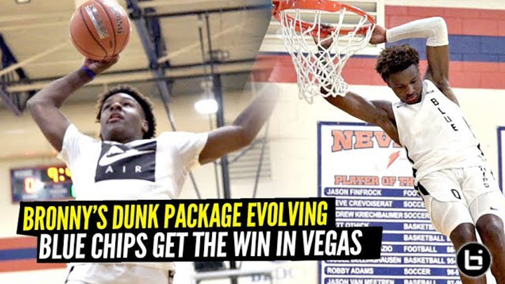 Bronny James' BOUNCE Is EVOLVING!! Blue Chips Get The W In Vegas!
