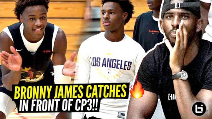 Chris Paul Watches Bronny James Activate STEPH CURRY MODE vs Carmelo Anthony's Team!