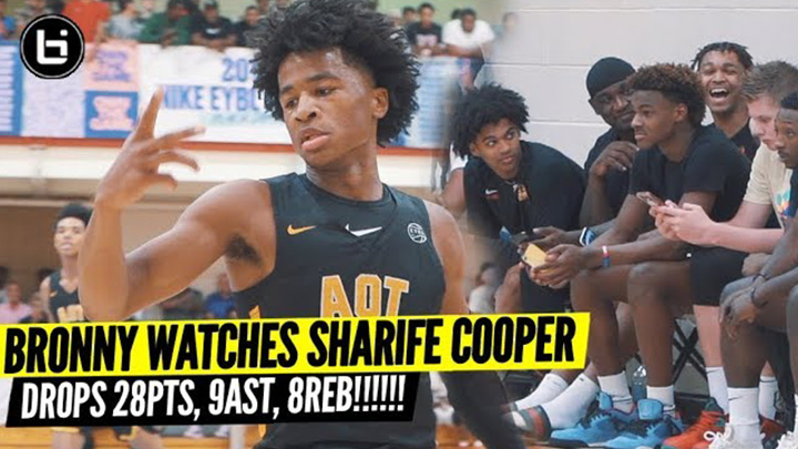 Sharife Cooper Goes Off For 28, 9, and 8 In Front of Bronny...