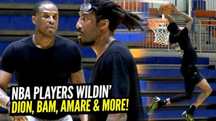 Dion Waiters & Amare Stoudemire GO AT IT During NBA Open Runs By Remy!!