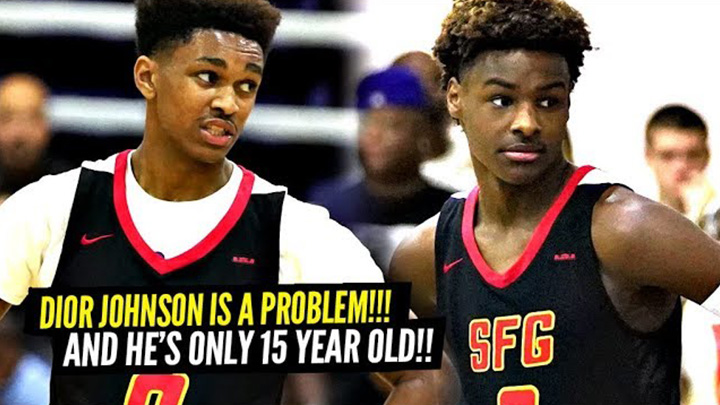 15 year old Dior Johnson is TOO Hard to Guard! Strive For Greatness Put on a Show!