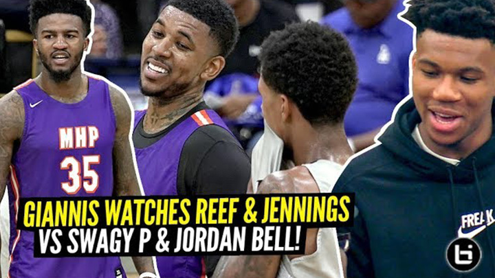 Giannis Watches Nick Young vs Brandon Jennings GO AT IT!!...
