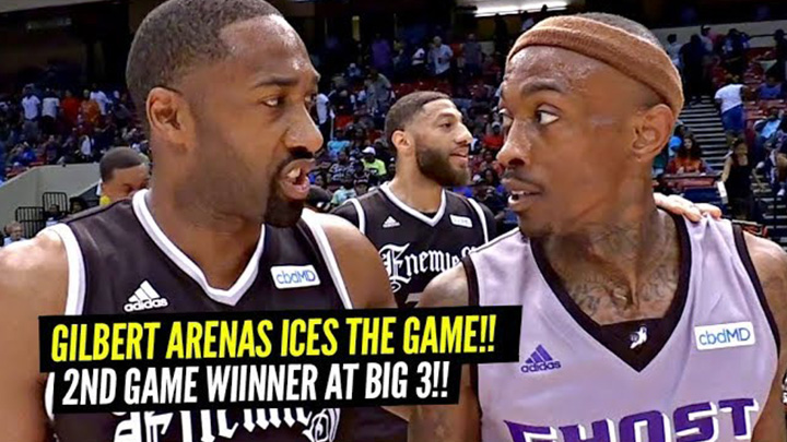 Gilbert Arenas Has ICE In His Veins!! 2nd Game WInner In a ROW at Big 3!