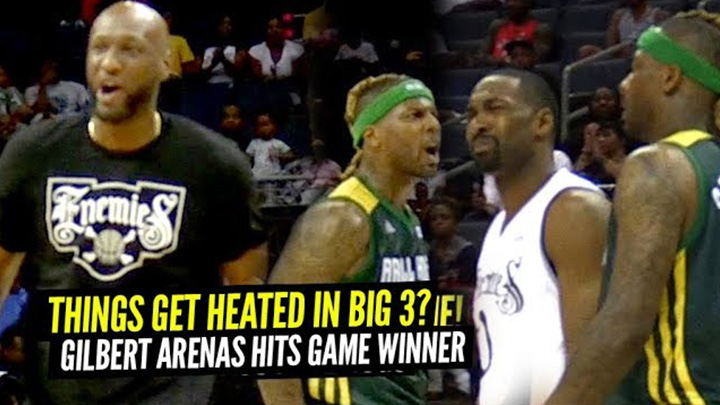 Gilbert Arenas Hits GAME WINNER In Big 3 Debut!! Enemies Comeback Win vs Ball Hogs!