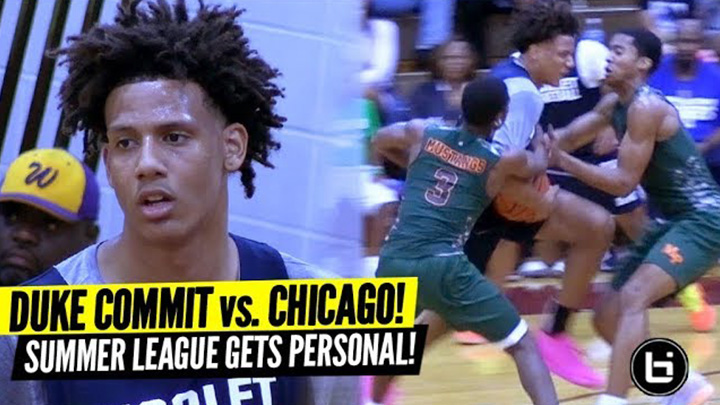 Newest Duke Commit Jalen Johnson Gets Tested by TOUGHEST Chicago Squad!