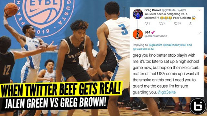 Basketball Twitter Beef Got Real! Jalen Green vs Greg Brown!