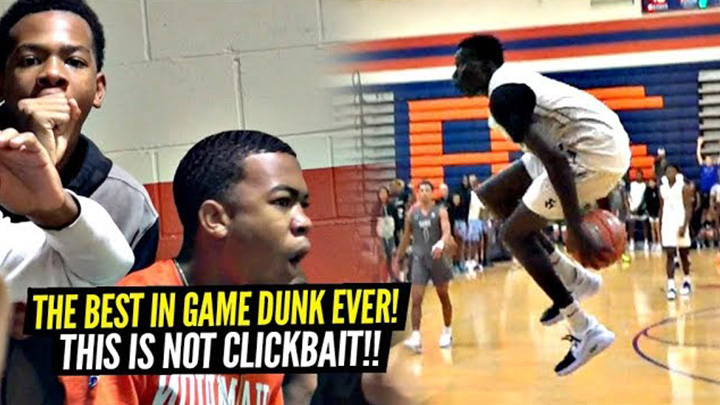 The BEST In-Game Dunk EVER By a High Schooler!!! Humanity is EVOLVING!!