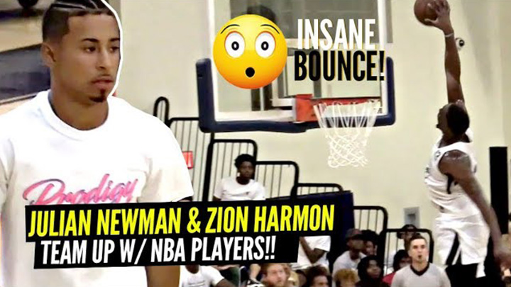 Julian Newman Teams Up w/ NBA Players Derrick Jones & Bam Adebayo!!