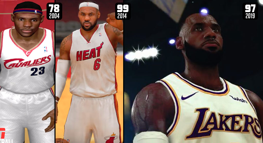 The Evolution of LeBron James In Video Games (2004-2019)
