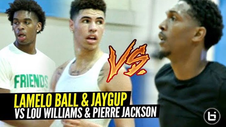 LaMelo Ball & Josh Christopher vs NBA Guards Lou Williams, Pierre Jackson, Brandon Jennings at Rico Hines Runs!