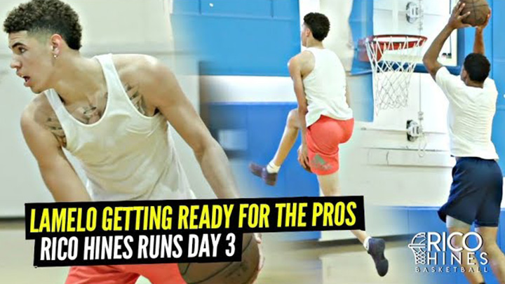 LaMelo Ball Is READY For The Pros!! Teams Up w/ NBA Veterans at Rico Hines Private Runs!!